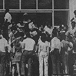 Black students prepare to enter Tigert Hall